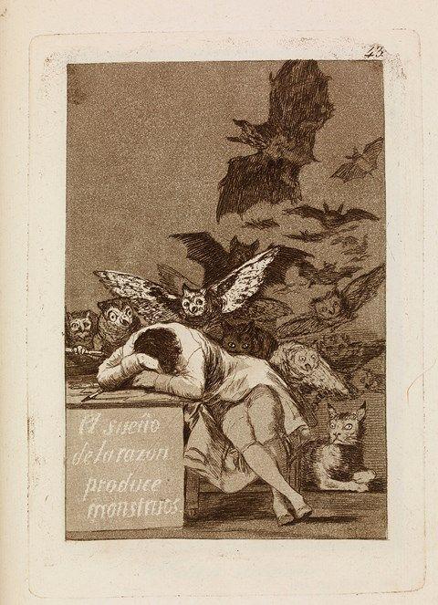 Francisco de Goya, El sueno de la razon produce monstruos