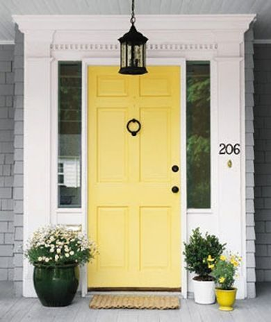 What Color Should I Paint My Front Door Yellow Accents Front