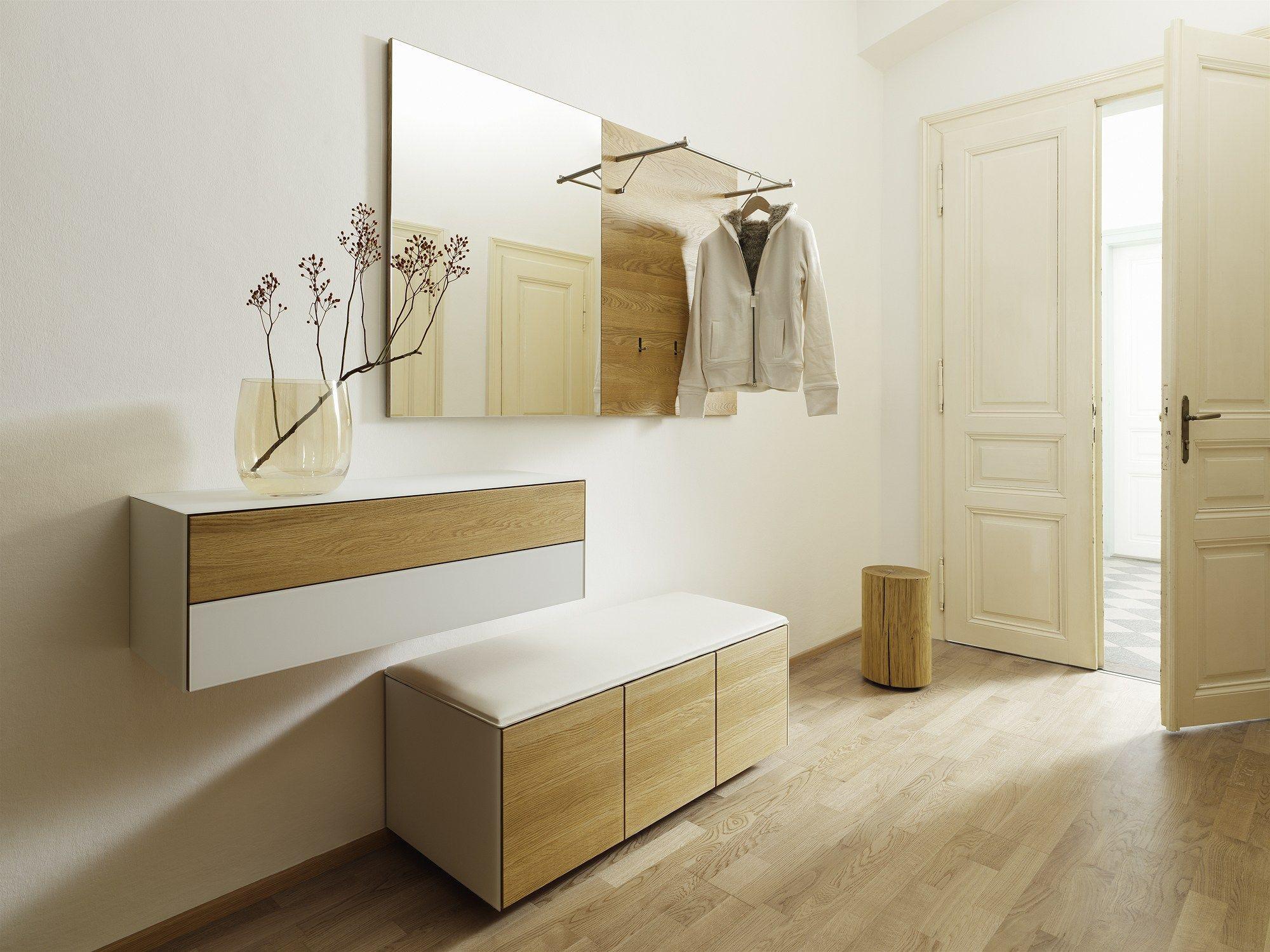 Sectional wall-mounted hallway unit CUBUS PURE Cubus Pure Collection by TEAM 7 Natürlich Wohnen | design Sebastian Desch