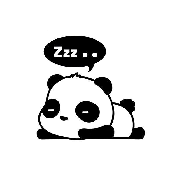 3pcs etiquetas adhesivas de la pared del panda separables las ...