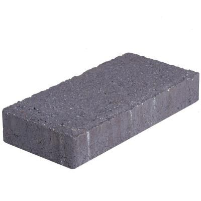 Pavestone 4 In X 8 In 45 Mm Charcoal Holland Concrete Paver 22003 At The Home Depot Concrete Pavers Concrete Paving Design