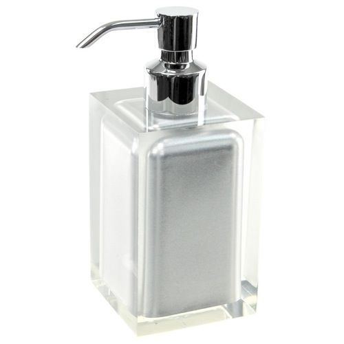 Soap Dispenser Gedy Ra81 73 Square Silver Countertop Soap