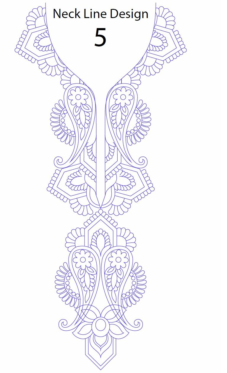 Neck Line Embroidery Design Development cuellos moldes para bordar ...