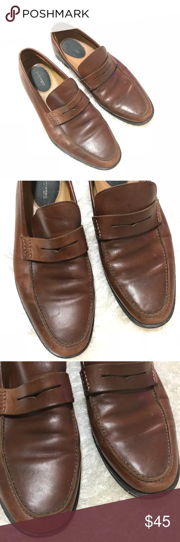 Banana Republic Mens Dellbrook Italian Leather Loafer Size 10 eqCmi