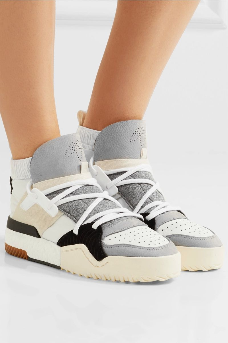 adidas Originals by Alexander Wang Suede Trimmed Leather