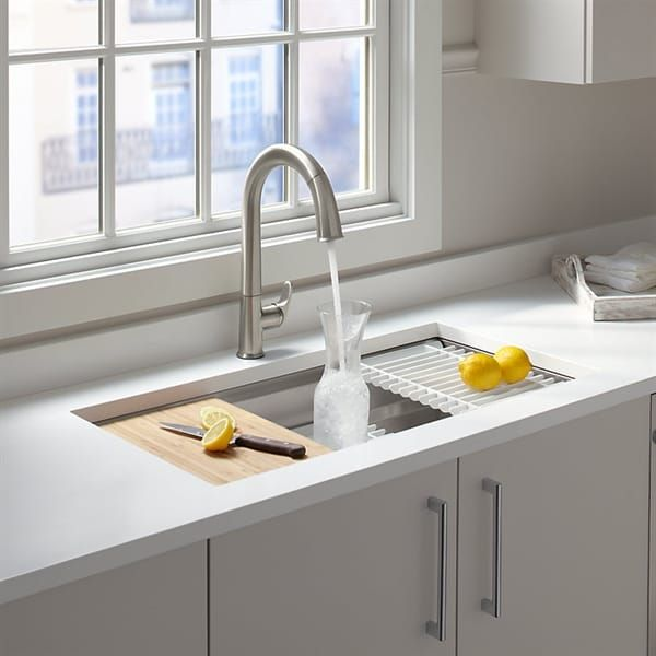 Shop Kohler 5540 Na Prolific Undermount Single Basin Kitchen Sink At