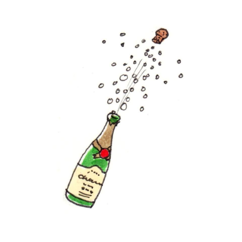 Le Champagne Est Necessaire En Temps De Defaite Et Obligatoire En Temps De Victoire W Churchill Bubble Drawing Doodle Drawings Bottle Drawing