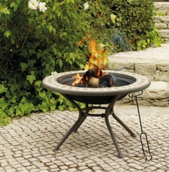 Fire Pit Table B And Q Bandq Blooma Silene Mosaic Firepit Table