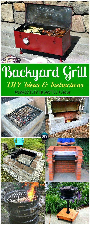 DIY Backyard BBQ Grill Projects Instructions | Diy grill ...