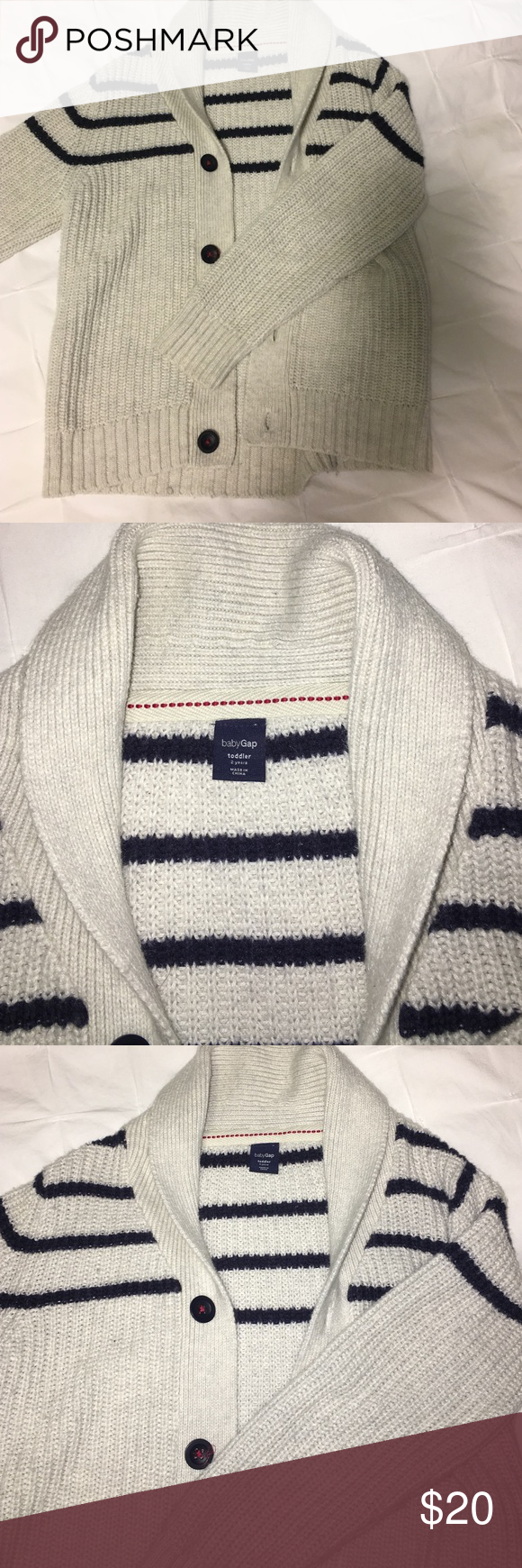 Boys Cardigan Soft cotton sweater. Great condition. Marked a 2 but ...
