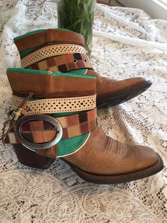 78af41bea50 Beautiful Green Square Toe Goat skin Cowboy Boots Womens size 9 ...