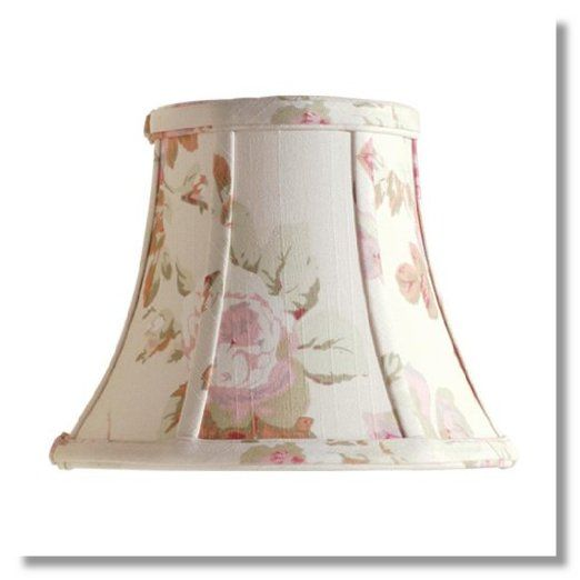 Laura Ashley SLL25107 Stowe 7-Inch Bell Clip Shade, Floral