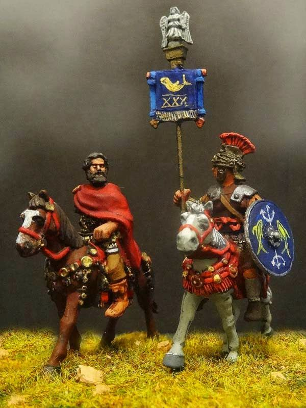 Aventine Miniatures 28mm Romans, mounted commande.