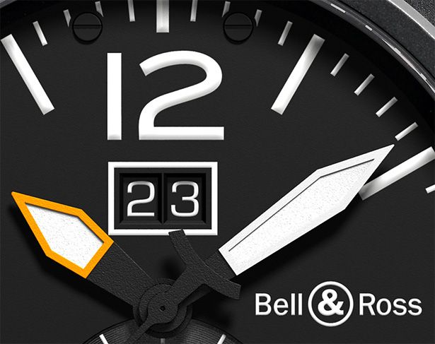 Bell & Ross BR 03-51 GMT CARBON - big date at 12 o´clock