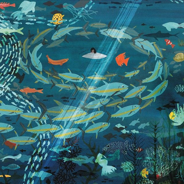 Under the sea #illustration #art #picturebook #ariver