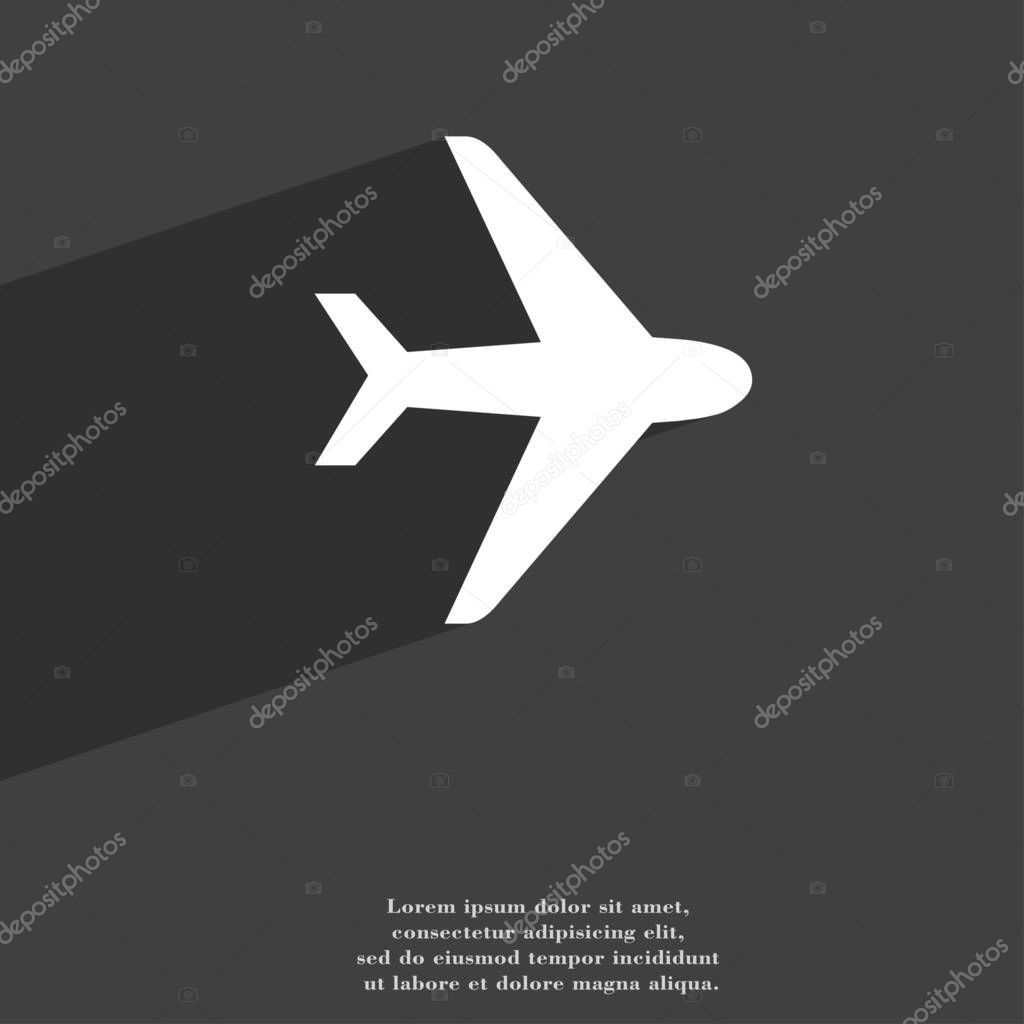 Plane Icon Symbol Flat Modern Web Design Long Shadow Space Stock Photo Sponsored Flat Modern Web Plane Ad Modern Web Design