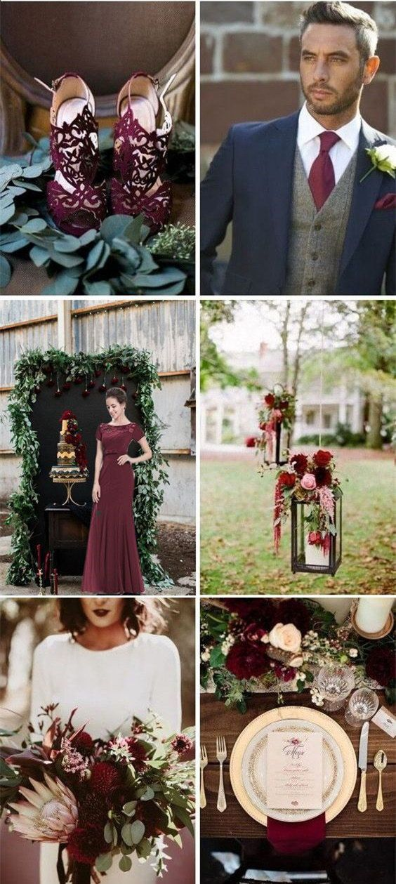 28 Burgundy Wedding Color Theme Ideas To Try #weddingfall