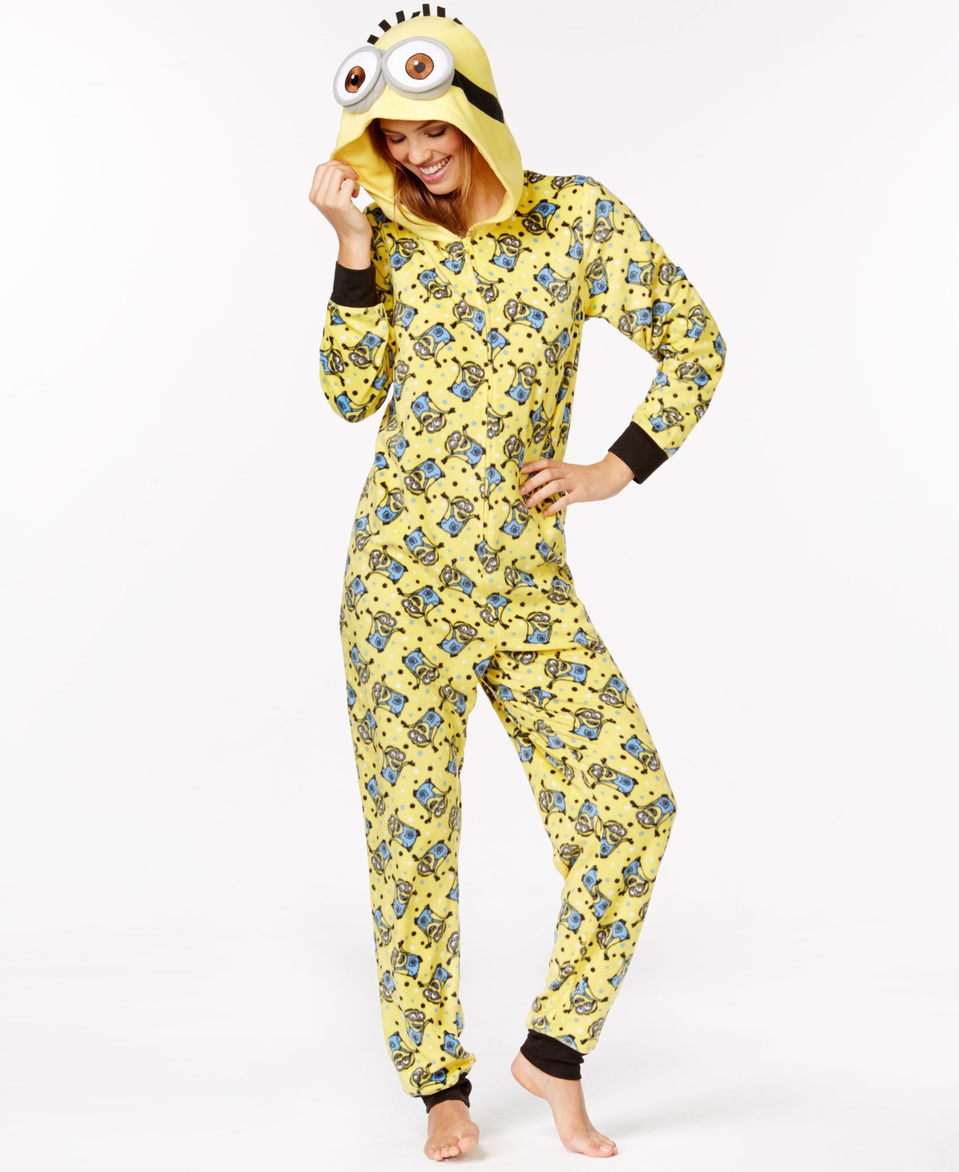 4b317411c9a966 Despicable Me Minion Adult Hooded Onesie | Buy | Adult onesie ...