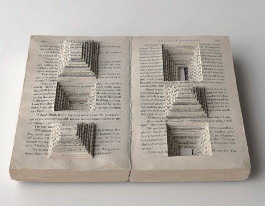 book art by Ryuta Iida http://www.ryuta-iida.com/works/ #book_arts #paper_art