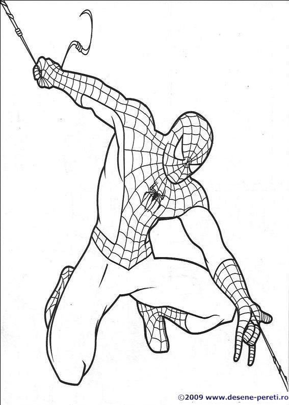 Spiderman Desene De Colorat Omul Păianjen Desene și Copii
