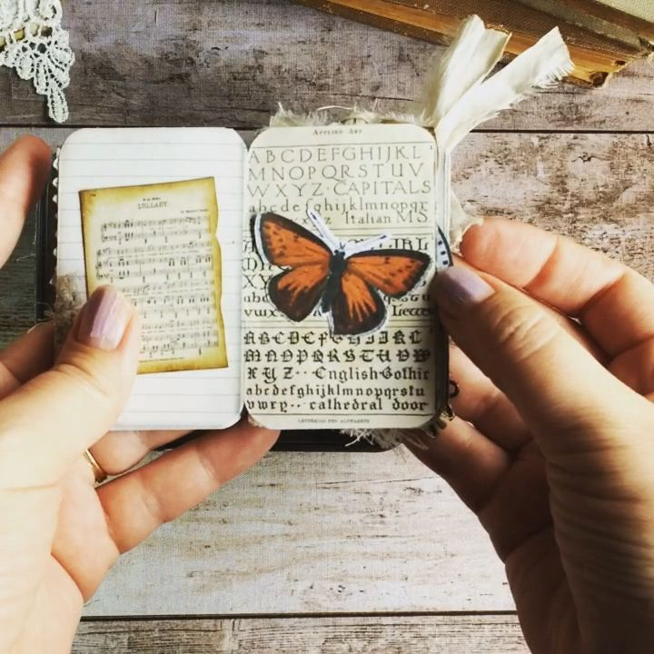 Tin Box Mini Book, Junk Journal Kit, Printable Ephemera, Vintage, Miniature, Cards, Tags, Collage Sheet, Booklet, Altoid Tin, Embellishment