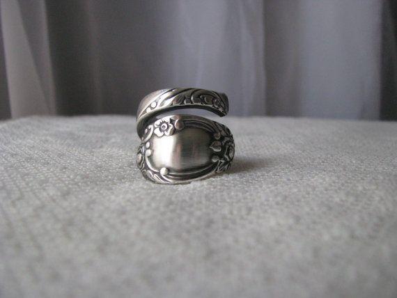 Anneau de cuillère cuillère bijoux argent par TheBeadLadiesII