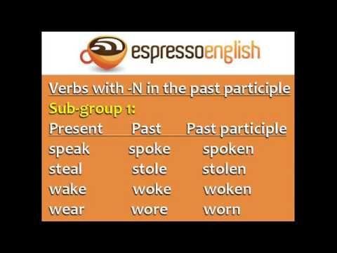 Espresso English Verbs In English Tutorials Videos Compilation English Verbs Learn English Learn English Grammar