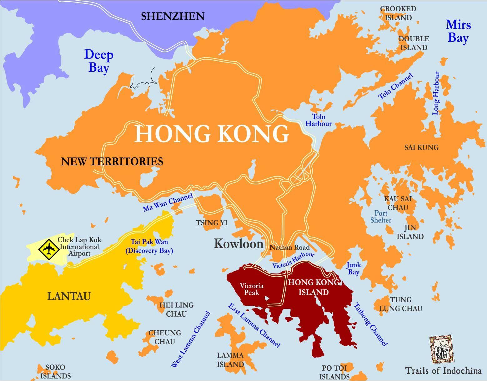 Hong Kong Map Trails of Indochina Hong Kong Pinterest Asia