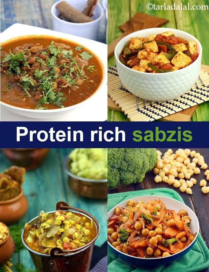 Protein Rich Sabzis, High protein Indian Vegetables (With