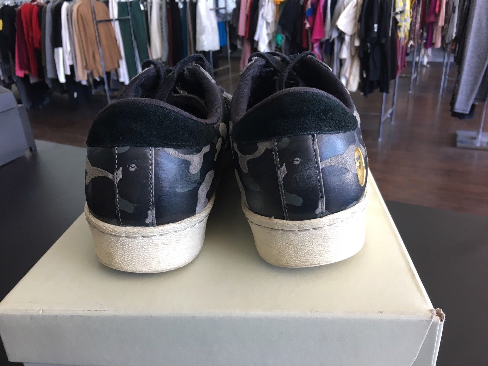 sports shoes 09060 e87fb adidas Superstar 80s Undftd Bape Black Camo Size 9 S74774 White. Find this  Pin and ...