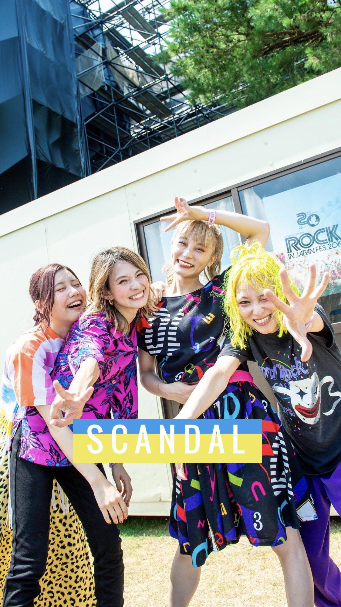 ゆか Scandal壁紙rt垢 In Scandal Japanese Band Scandal Japan