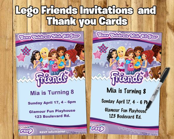 DIY Lego Friends Inspired Invite Download By InstaBirthday
