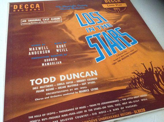 Rare - Lost in the Stars ( original cast broadway recording ) 1949 Decca by VinylRocket #TrendingEtsy