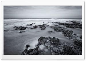 Balck And White Sea Photo HD Wide Wallpaper for Widescreen
