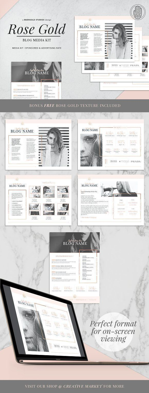 Pin On Media Kit Templates Resources