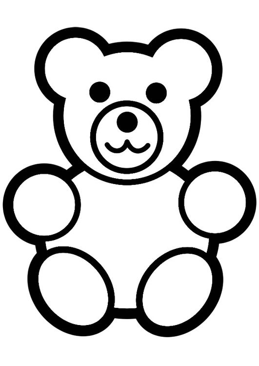 Coloring page teddy bear | Science Fair Ideas | Pinterest | Bären ...