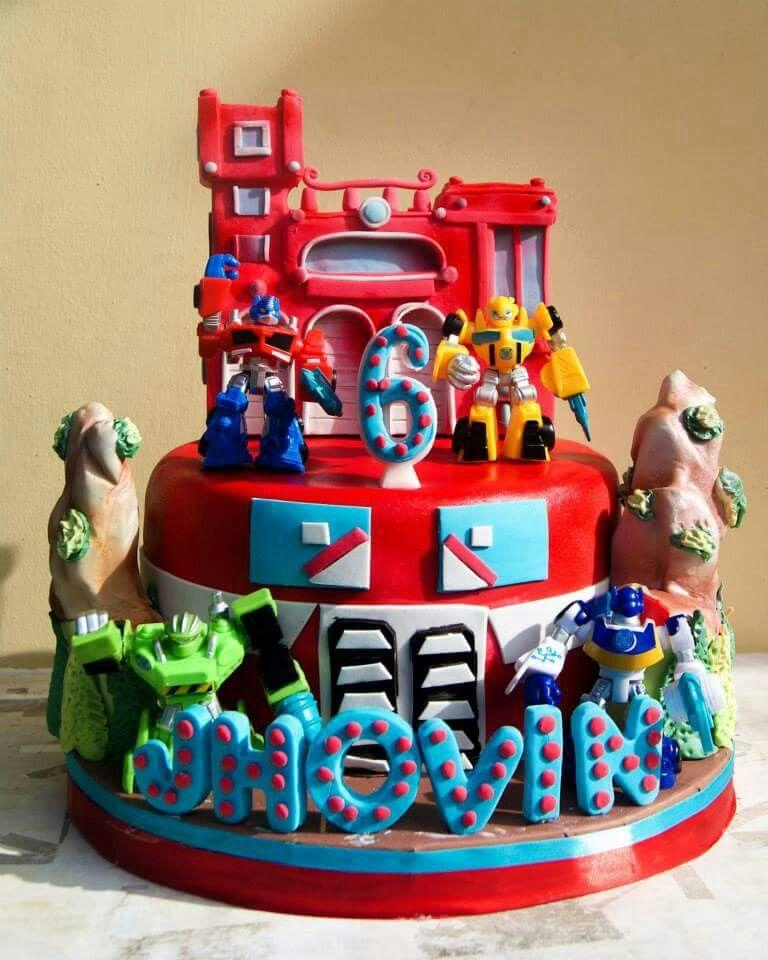 Sensational Rescue Bots Cake With Images Rescue Bots Cake Rescue Bots Funny Birthday Cards Online Alyptdamsfinfo