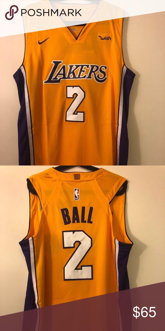buy popular cb403 79abd NWT Lonzo Ball Los Angeles Lakers Jersey NWT Lonzo Ball Los ...