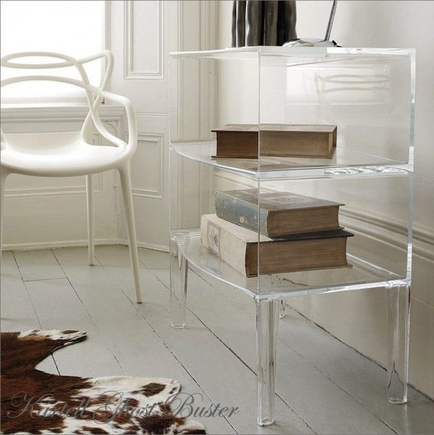 x2,Kartell The Famous Plastic Culture Bed side tables..like to use for paper work in office
