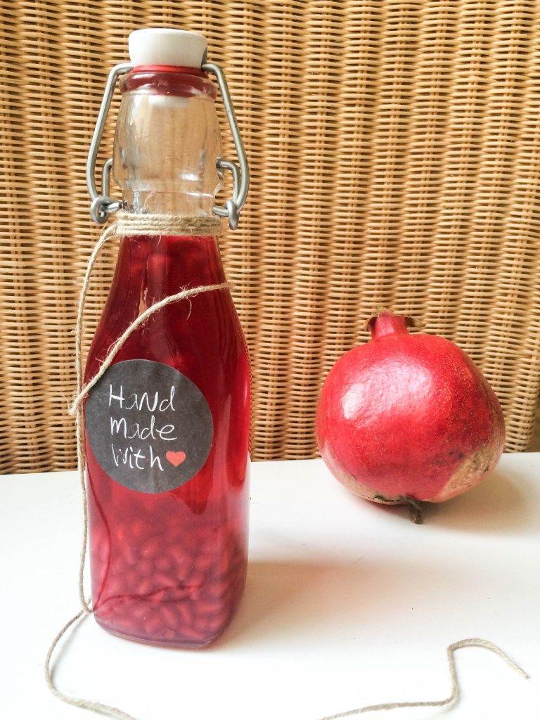 Granatapfel Essig - FoodForFamily #Äpfelverwerten