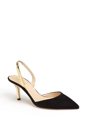 f6b2a4aa4 kate spade new york 'jeanette' slingback shoes with a gold kitten heel //  so classic and elegant @nordstrom