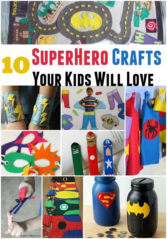 10 Superhero Crafts Your Kids Will Love - A Spectacled Owl