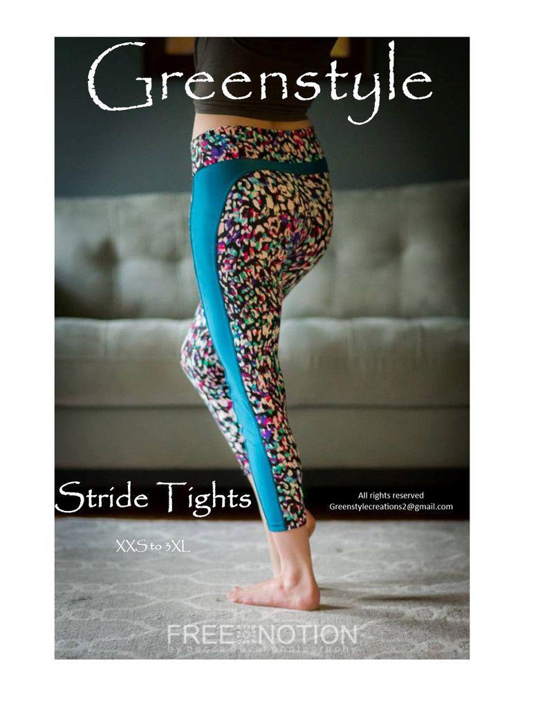 Stride Athletic Tights PDF Sewing Pattern XXS to 3XL   Kleider nähen ...