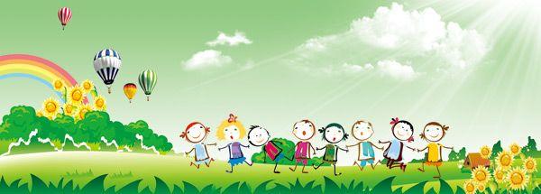 Kindergarten Cartoon Backgrounds Psd Psd Cartoon