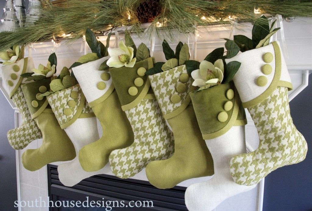 The Full Bevy Of Lime Coconut Houndstooth Stockings Designed At Bh G Christmas Ideas Request