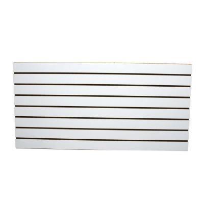 Garageescape 2 Ft X 4 Ft White Slatwall Easy Panel 2 Piece Per