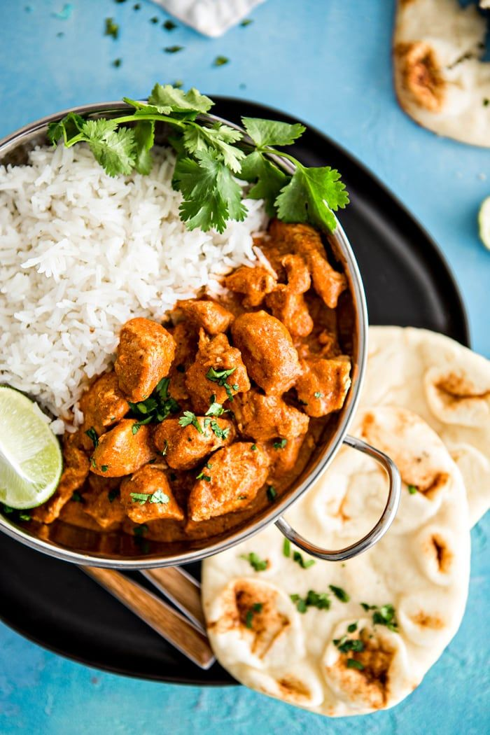 Indian Butter Chicken With Basmati Rice And Homemade Naan Good Life Eats Butter Chicken Recipe Indian Basmati Recipes Indian Butter Chicken