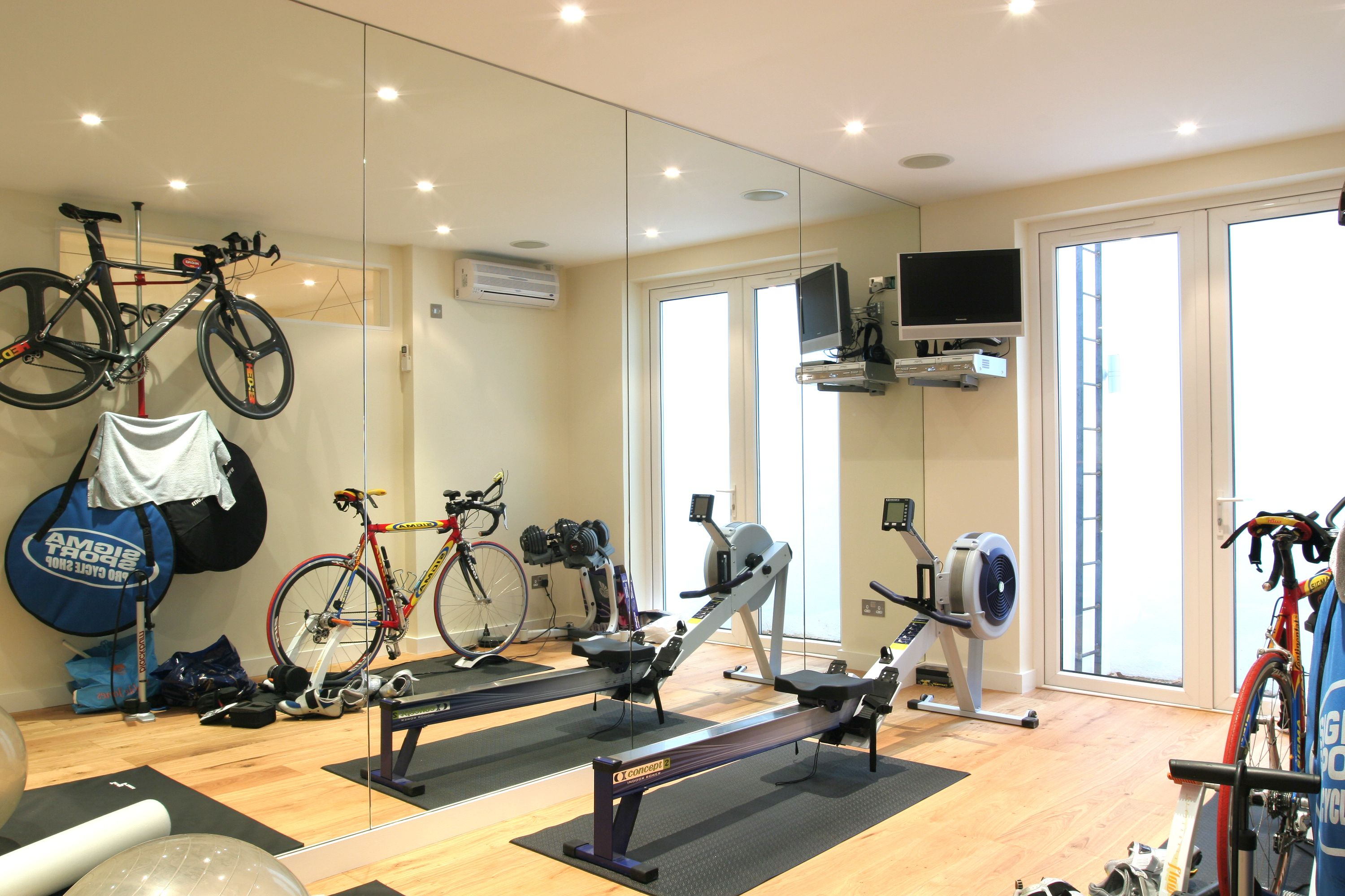 With This Basement Gym Situated With A Lightwell And French