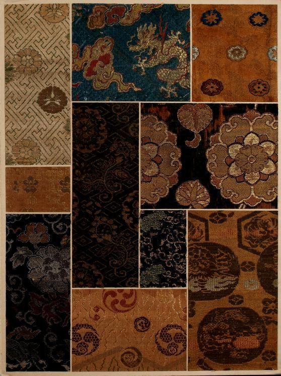 [Oriental textile samples