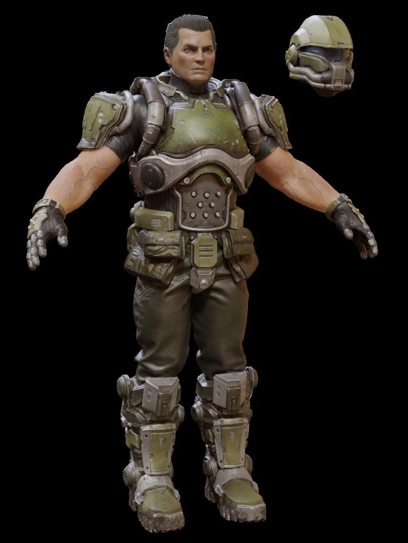 Doomguy Doom 3 Doom 3 Doom Marine